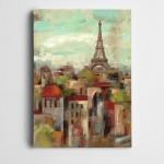 Eyfel ve Paris Kanvas Tablo