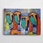 Afrikalı Kadınlar Dekoratif Kanvas Tablo