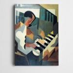 Piyano Çalan Adam Dekoratif Kanvas Tablo