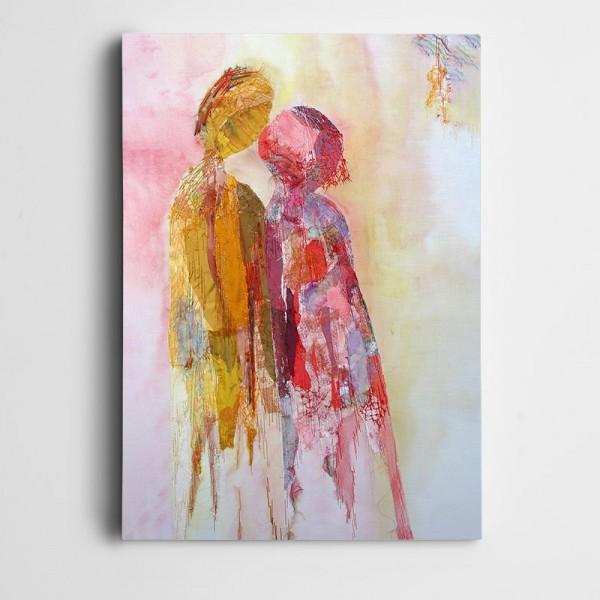 Sevgililer Dekoratif Kanvas Tablo