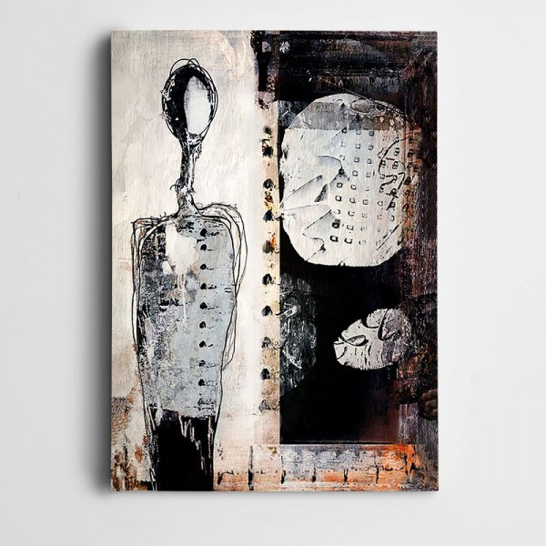 Soyut Figür Dekoratif Kanvas Tablo