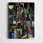 Soyut Geometri Dekoratif Kanvas Tablo