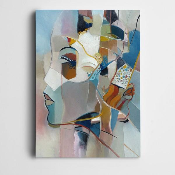 Yüzler Renkler Dekoratif Kanvas Tablo