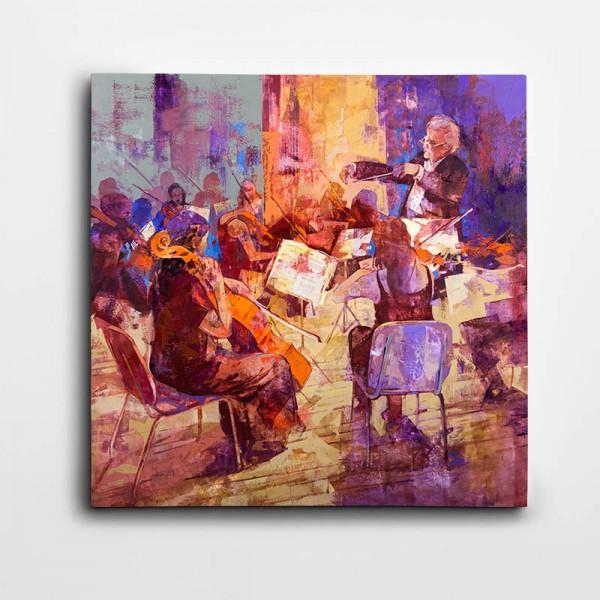 Orkestra Kare Kanvas Tablo
