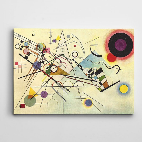 Renkler Şekiller Soyut Kanvas Tablo