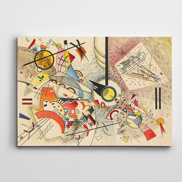 Şekiller Renkler Soyut Kanvas Tablo