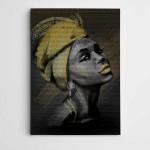 Afrikalı Kadın Modern Sanat Kanvas Tablo