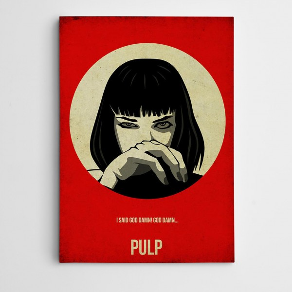 Pulp Fiction Modern Sanat Kanvas Tablo