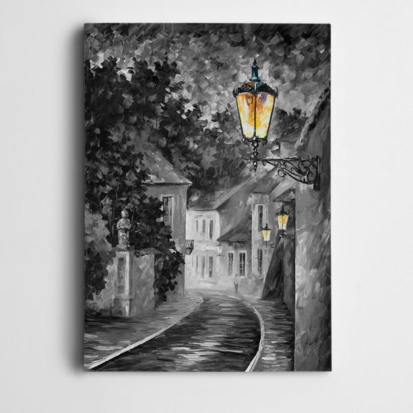 Sokak Lambası Kanvas Tablo
