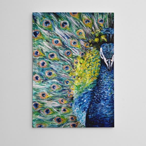 Tavus Kuşu Yağlıboya Reprodüksiyon Kanvas Tablo