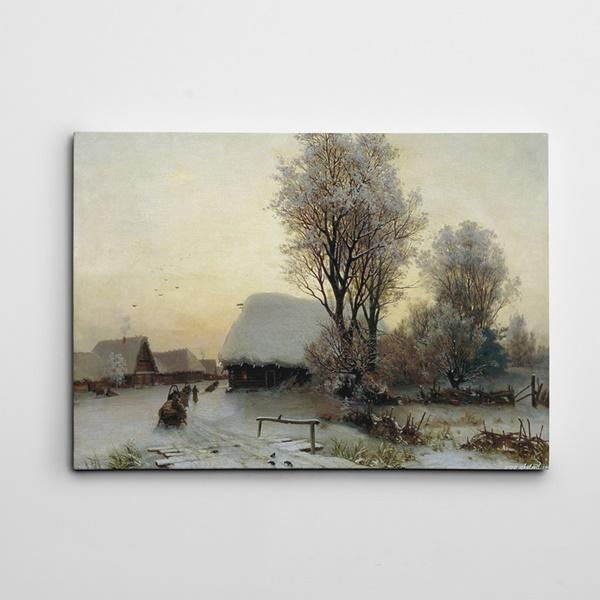 Kar Yağlı Boya Kanvas Tablo
