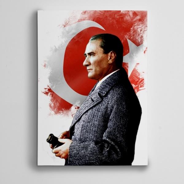 Atatürk Dürbün Kanvas Tablo