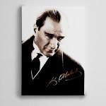 Atatürk İmza Kanvas Tablo