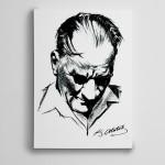 Atatürk Karakalem Çalışması Kanvas Tablo