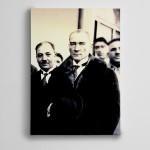 Atatürk Siyah Beyaz 3  Kanvas Tablo