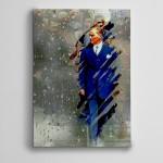 Atatürk ve Yağmur  Kanvas Tablo