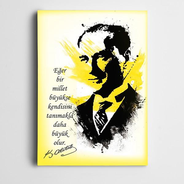 Atatürk Bilinç Kanvas Tablo
