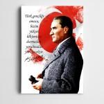 Atatürk Çalışkanlık Kanvas Tablo