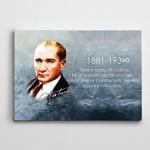 Atatürk Cumhuriyet  Kanvas Tablo