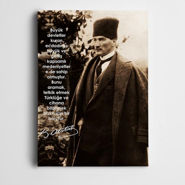 Atatürk Devlet Kanvas Tablo