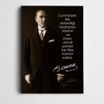 Atatürk Fikir Hürriyeti Kanvas Tablo