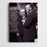 Atatürk Halkçılık Kanvas Tablo