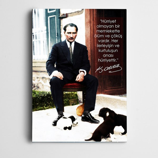 Atatürk Hürriyet Kanvas Tablo
