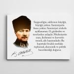 Atatürk Saygı ve Samimiyet  Kanvas Tablo