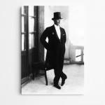 Atatürk Frank ve Şapka Kanvas Tablo