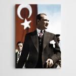 Atatürk Türk Bayrağı Kanvas Tablo
