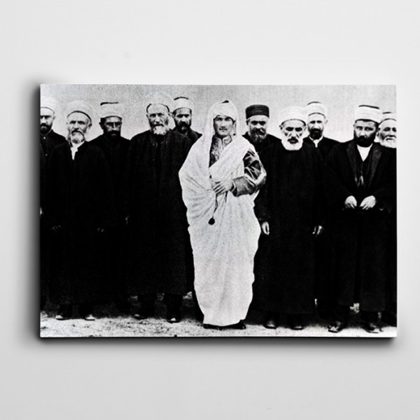 Atatürk Yerel Kıyafet İle Kanvas Tablo