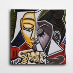 Picasso Tete Dune Femme Kare Kanvas Tablo