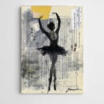 Siyah Balerin Modern Sanat Kanvas Tablo