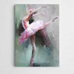 Pembeli Balerin Modern Sanat Kanvas Tablo