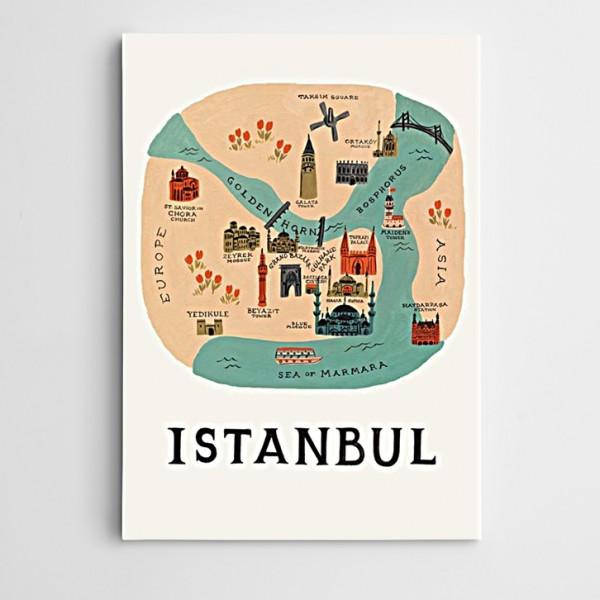 İstanbul Suriçi Modern Sanat Kanvas Tablo