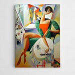 Kübik Modern Sanat Kanvas Tablo