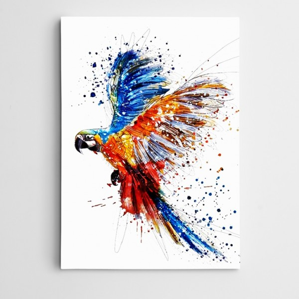 Papağan Kanatlar Kanvas Tablo