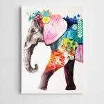 Renkler Fil Modern Sanat  Kanvas Tablo