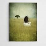 Uzak Ağaç Modern Sanat Kanvas Tablo