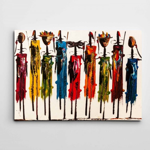 Afrikalı İnsanlar Modern Sanat Kanvas Tablo