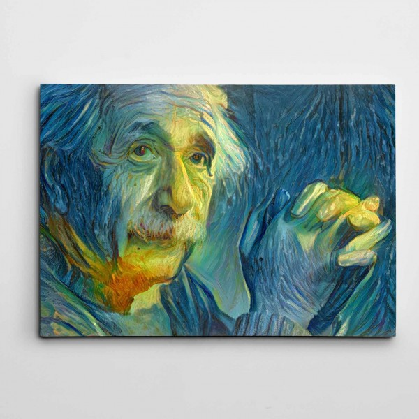 Einstein Modern Sanat Kanvas Tablo