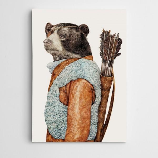 Okcu Ayı Modern Sanat Kanvas Tablo