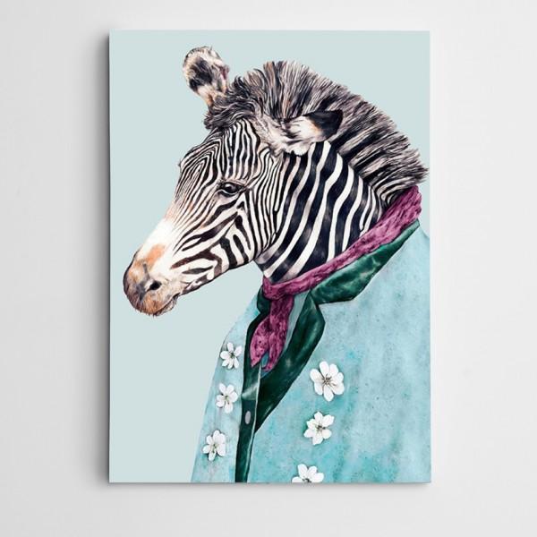 Zebra Modern Sanat Kanvas Tablo