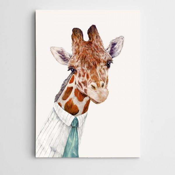 Zürafa Modern Sanat Kanvas Tablo