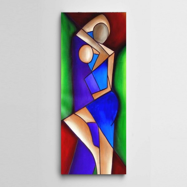 Modern Sanat Panoramik Kanvas Tablo