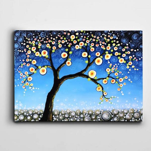 Modern Soyut Ağaç Kanvas Tablo