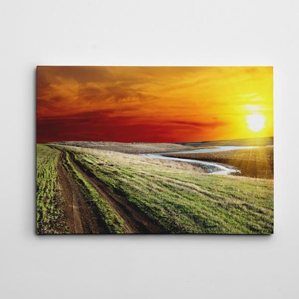 Bahar ve Güneş Kanvas Tablo
