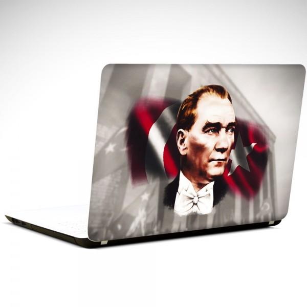 Bayrak ve Atatürk Laptop Sticker