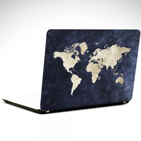 Dünya Haritası Laptop Sticker
