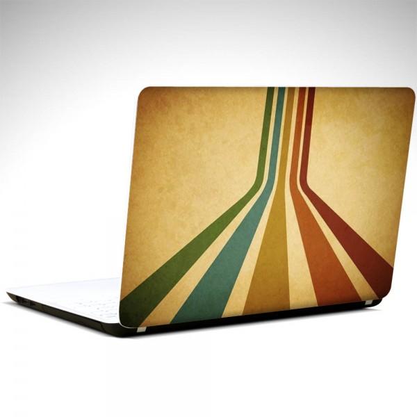 Retro Renkler Laptop Sticker